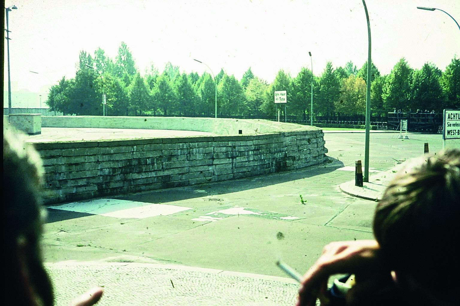 Die Mauer in Berlin 1968