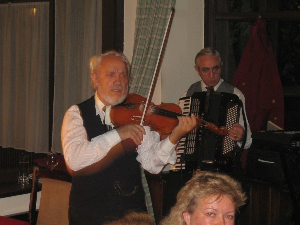 Dinner music in Budapest