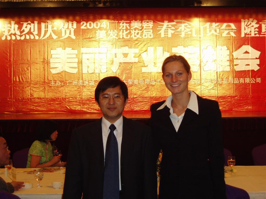 James Chan and Nadia Conrads on China Tour 2004