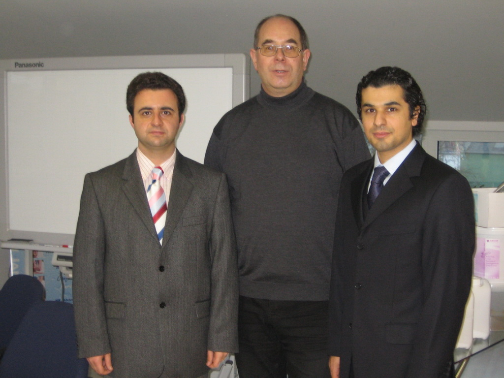 Dr. Babak (right) with Ali, translator in Aachen 2005