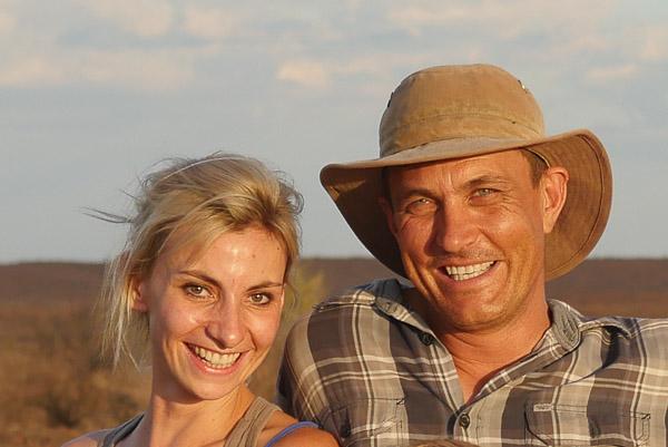 Albert und Lisa Voigts von Schütz, Eigner und Betreiber, Herz und Seele von LeafLove Safari..