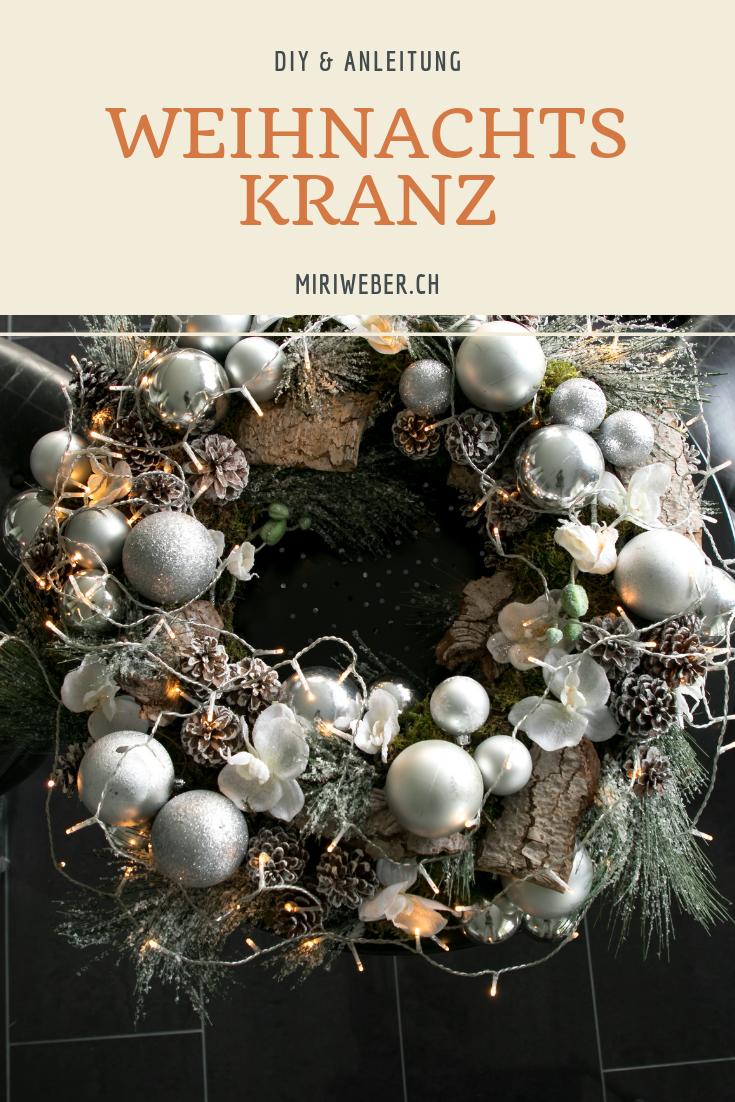 Weihnachtskranz, DIY Kranz, Christmas, Dekoration, selber machen, DIY mit Anleitung, mit Video, Kranz, Kugel Kranz, Lichter Kranz, Adventskranz, DIY Blog Schweiz, Kreativ