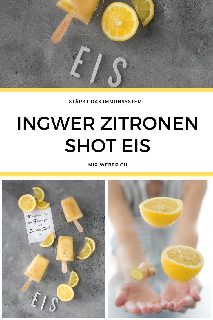 Ingwer Rezept, Ingwer Shot, Ingwer Zitronen Rezept, stärkt das Immunsystem, Ingwer, Zitronen Eis, Glace Rezept, Eis Rezept, Foodblog Schweiz