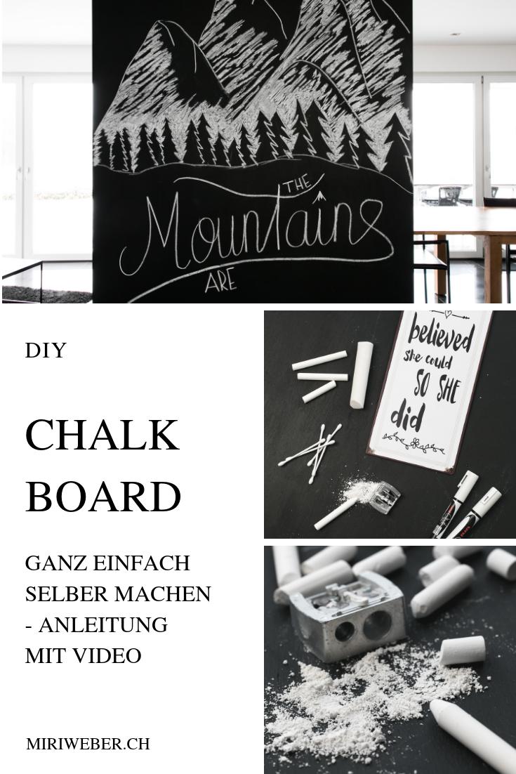 Chalk Board, DIY, selber machen, Kreide Tafel, Black Board, Lettering, Anleitung, Video, ganz einfach, beschriften, schön schreiben, Kreativ Blog Schweiz, DIY Blog Schweiz