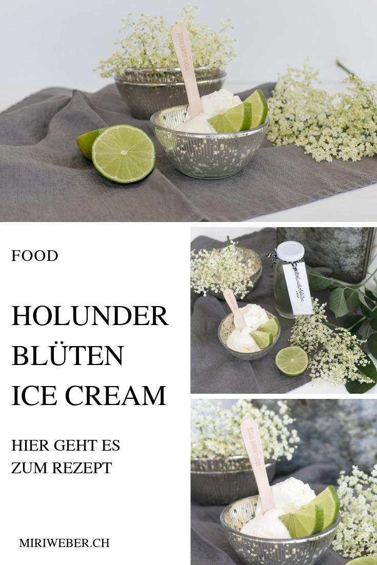 Holunderblüten, Eis, Rezept, Sirup,  Ice Cream, Holunder, Sommer, Glace selber machen, Recipe, Food Blog Schweiz, Eis, mit Eismaschine
