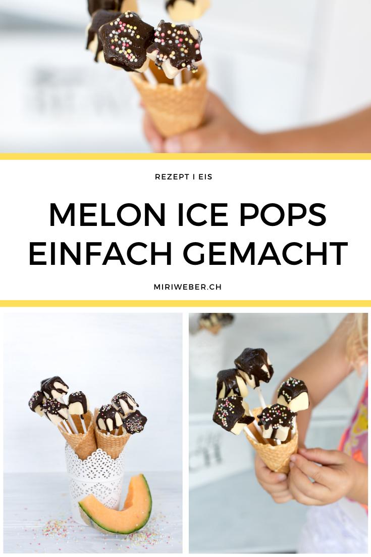Melon Ice Pops, Rezept, Ice Pops, Maxibon Pops selber machen, Eis Sterne, Kindereis, Foodblog Schweiz, Schweizer Foodblog