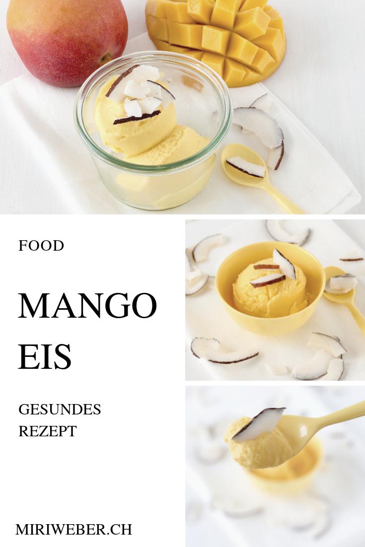 Mango Eis, Rezept, gesund, selber machen, Food Blog Schweiz, Eis Rezept, Glace selber machen, Schweizer Food Blog, Ice Creme