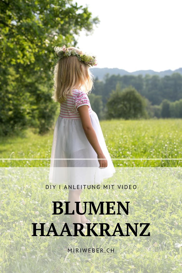 Blumen Haar Kranz, DIY, selber machen, selber binden, Anleitung, Video, Sommerblumen, Kranz, Haar Schmuck, Blumenhaarkranz, DIY, Blog
