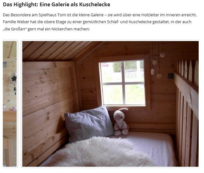 Spielhaus Tom, Kinderspielhaus, Kinderhaus, Spielhaus mit Galerie, Kreativblog Schweiz