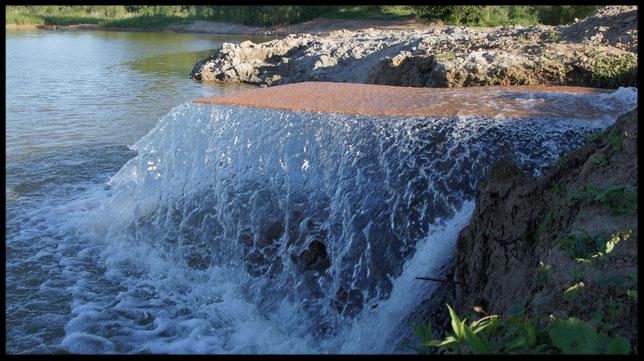 Even het water overpompen