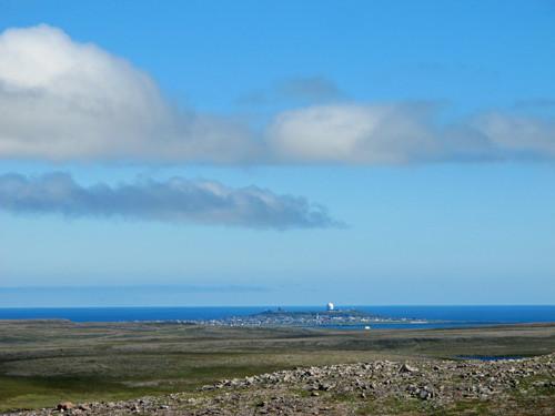 Aussicht auf die Inselstadt Vardø