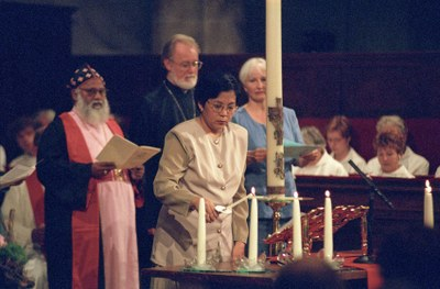Gottesdienst in Amsterdam 1998 zum 50-jährigen Bestehen des ÖRK. Foto: Peter Williams/ÖRK