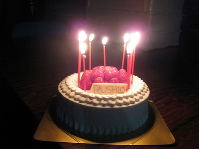 先輩方がRUSH2010誕生祝いにプレゼントしてくださったケーキ!トップ画像にもなってます。