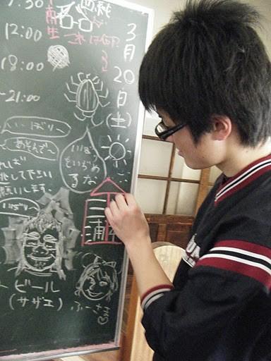 RUSH合宿は日直制です。毎日昼夜2人ずつ、黒板に名前が書かれます。