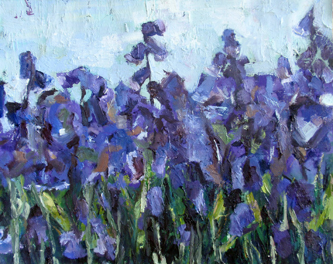 Bluebells, oil on canvas, 16 x 20, sold