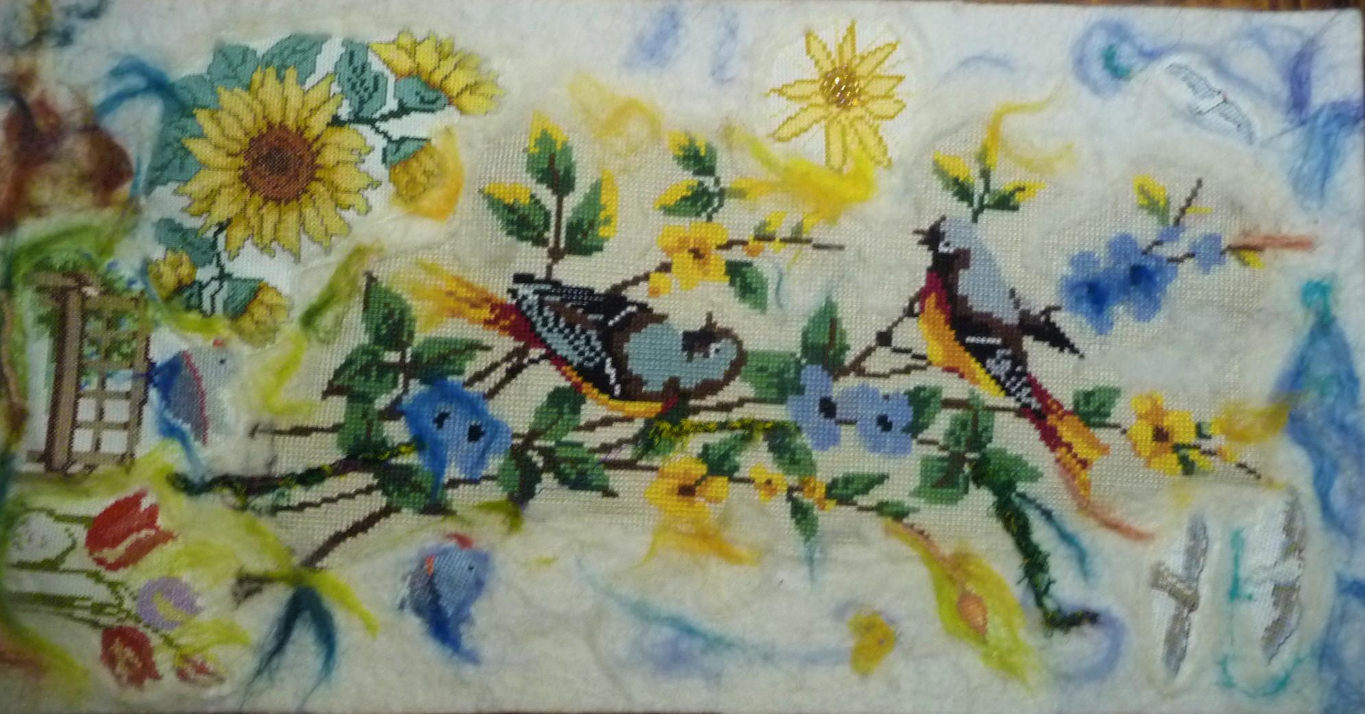 Zomer Trudy Michels vintage boduurwerk, punchen  en borduren