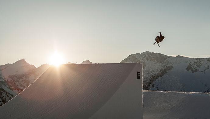 Snowpark im Skigebiet Klausberg im Ahrntal / Südtirol mit den perfekten Pistenbedingungen