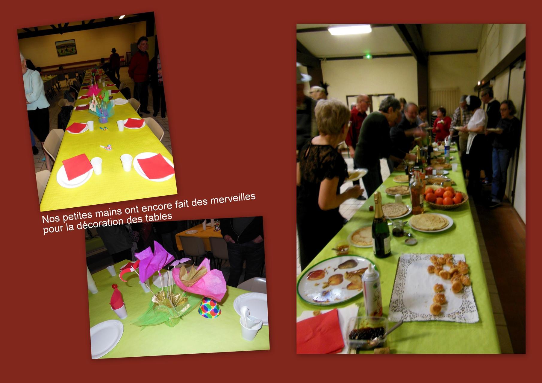 Un buffet bien garni et une décoration soignée sont le gage d'une soirée réussie