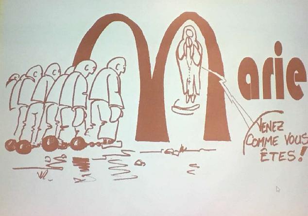 Un dessinateur nous projetait pendant les séances plénières, ses dessins, réactions aux propos tenus.