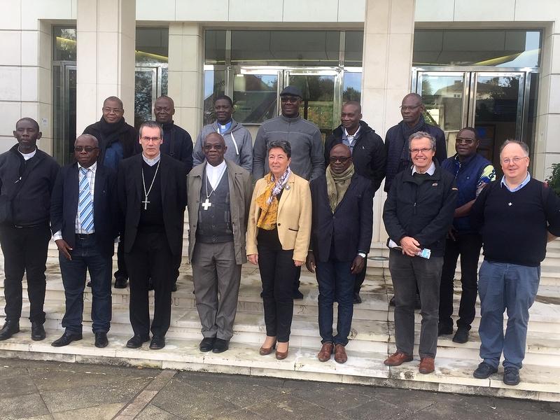Visite de la délégation au Conseil départemental de l'Orne en présence de Mme Oliveira, vice-présidente.