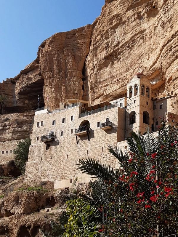 Monastère orthodoxe Saint-Georges dans la vallée Wadi Qelt