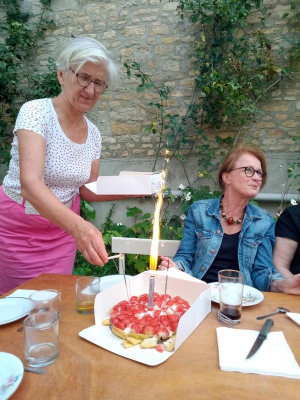 gâteau allumé par Dominique d'Argentré...