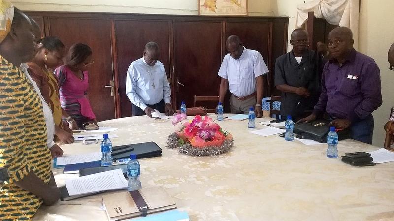 Séance de travail le 2 août avec le comité local ayant préparé le projet du jumelage.
