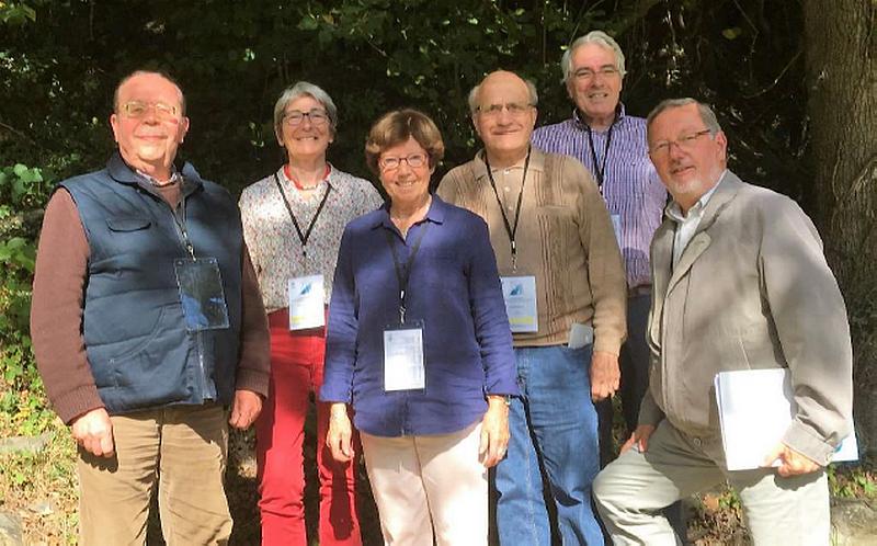 Tous les aumôniers de l'Orne étaient présents. De gauche à droite : Philippe, Françoise, Fabienne et Michel (CD d'Argentan) Hervé et Jean-Pierre (CP de Condé sur Sarthe).