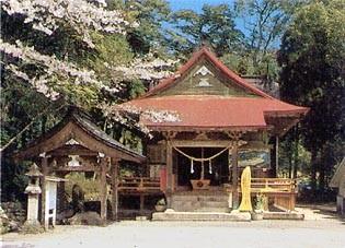 紫尾神社の拝殿の下から湧く
