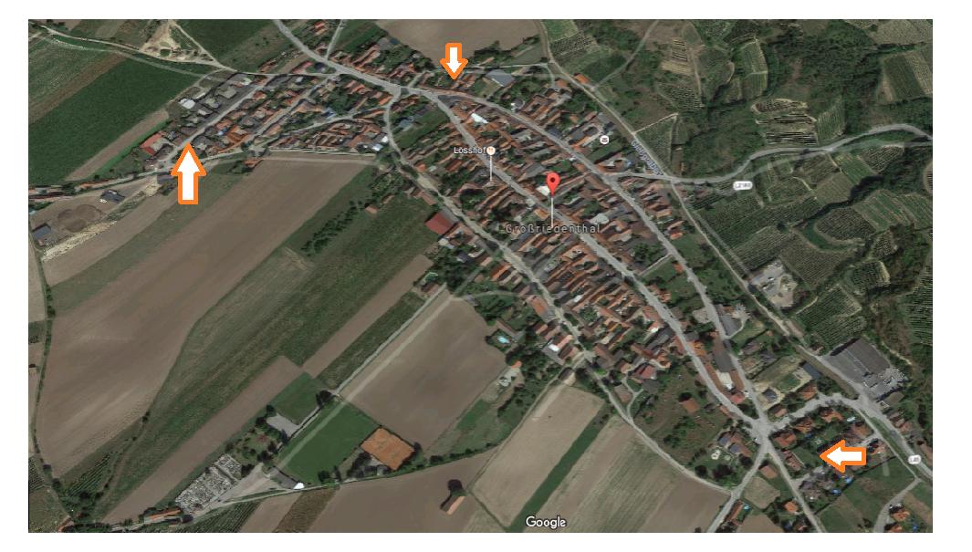 Standorte derzeitige Brunnen Großriedenthal