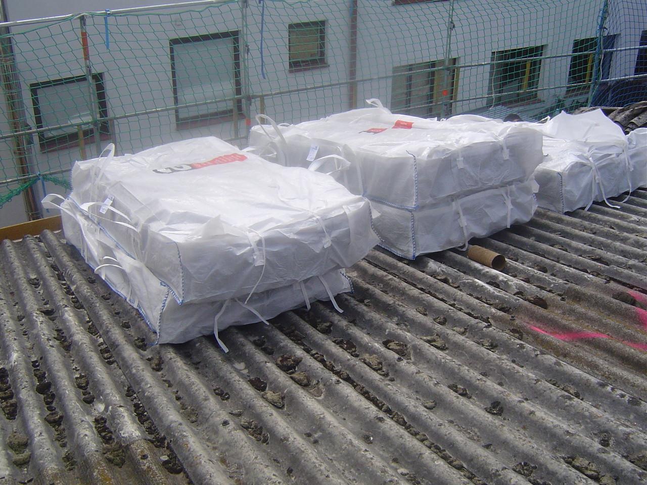 LINDENTHAL Umweltdienstleistungen: Bereitstellung asbesthaltiger Welleternitplatten (verpackt in Big-Bags) zur Entsorgung