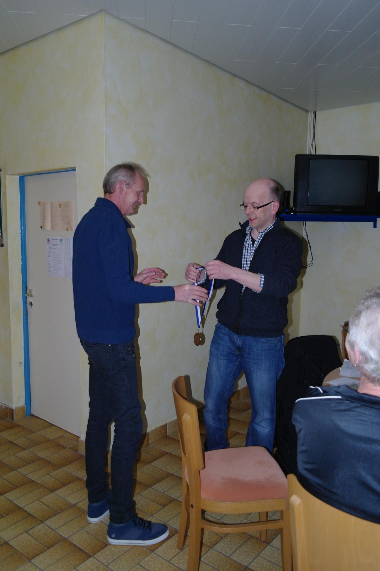2. Platz Doppel 2015: Detlef Just und Nico Tristram (nicht anwesend)