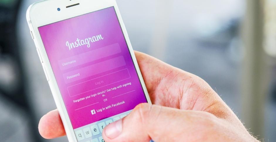 Page de connexion à Instagram, premier risque d'effractions digitales