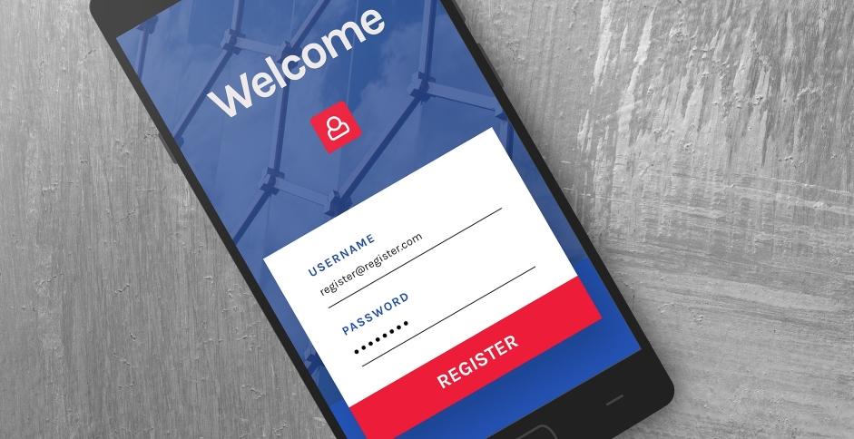 Illustration d'une page de connexion sur un téléphone portable, avec identifiant et mot de passe, qu'il faut bien choisir pour éviter les effractions numériques