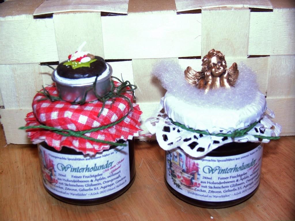 Marmelade mit Engel oder Teelicht