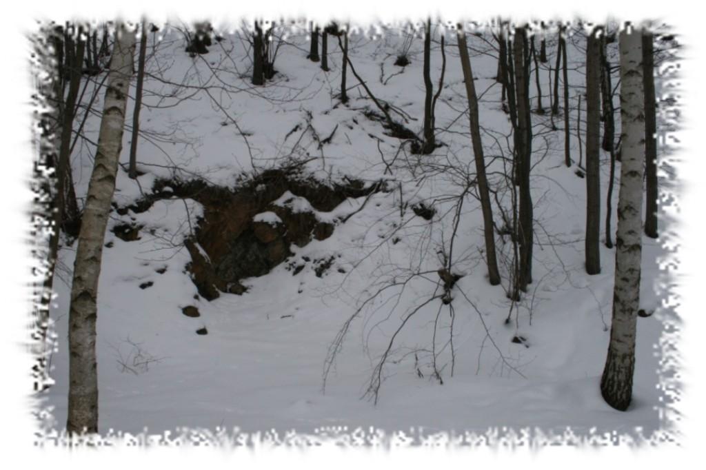 """Die zugemauerte """"Räuberhöhle""""- angeblich ein Geheimgang vom Kaufunger Rittergut."""