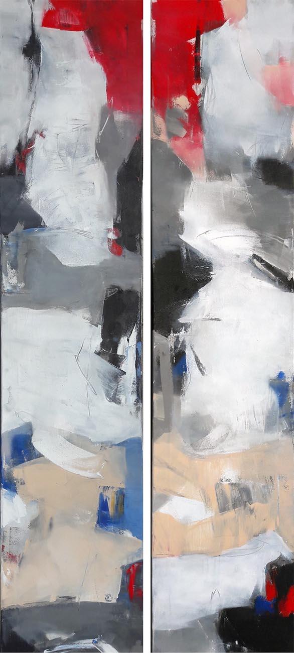 42 Acryl auf Leinwand je 160 x35 cm