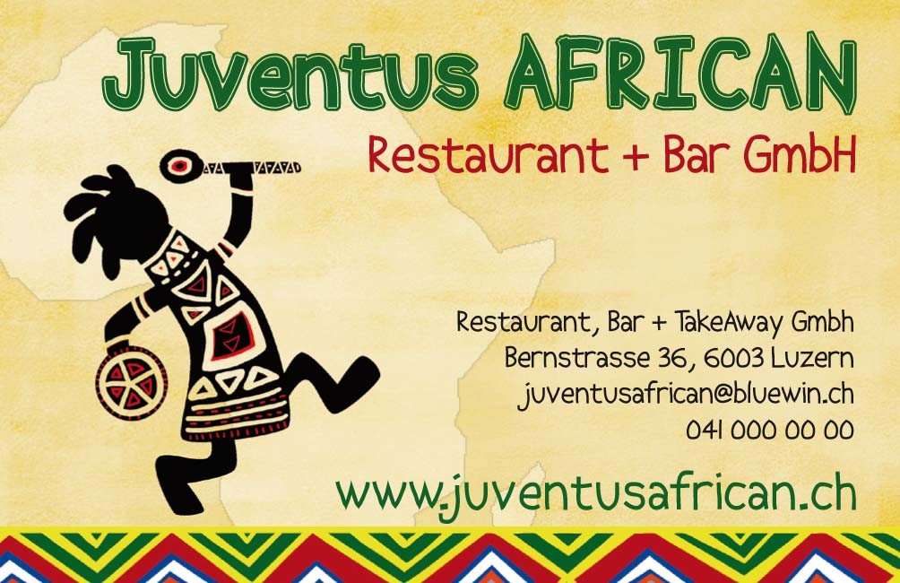 Gestaltung für Afrikanisches Restaurant