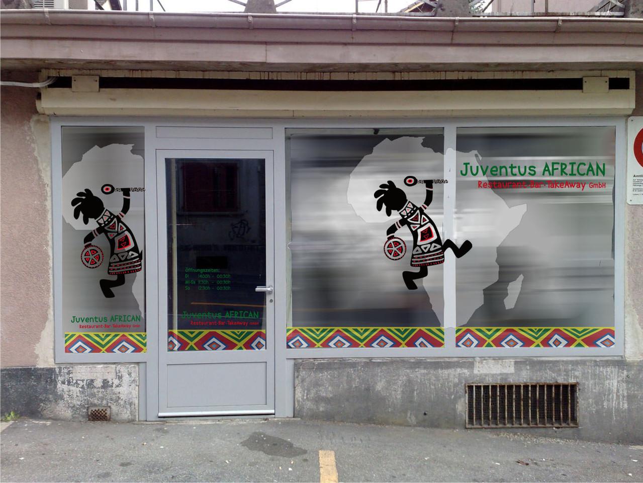 Schaufenstergestaltung, Afrikanisches Restaurant