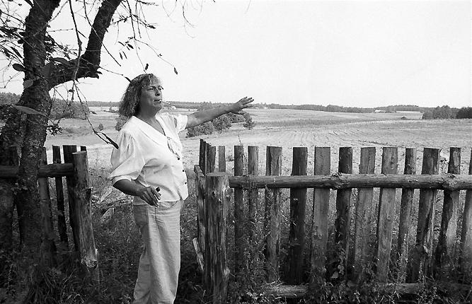Am Zaun, die Landschaft vor ihrem Grundstück.