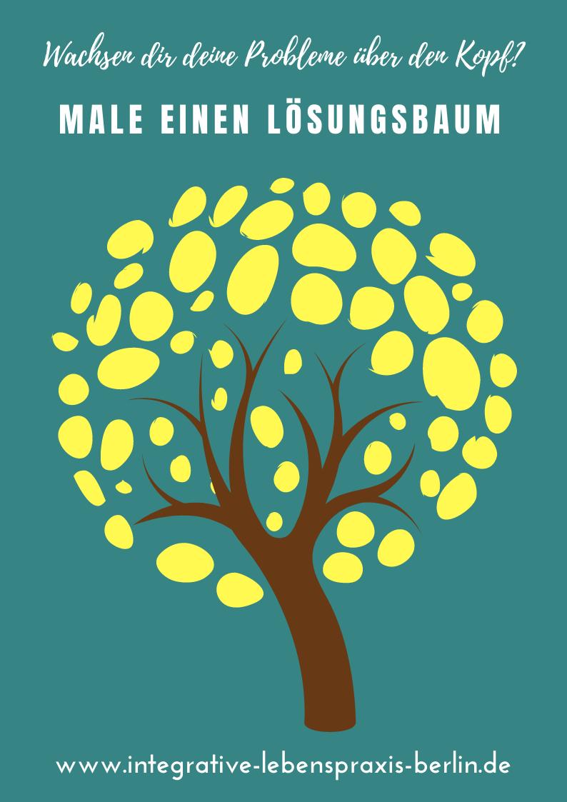 Wachsen dir deine Probleme über den Kopf? Male einen Lösungsbaum #Lösungsbaum #Lösungen