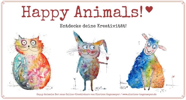 Happy animals lieber glücklich Malkurs Kreativkurs clarissa hagenmeyer intuitiv
