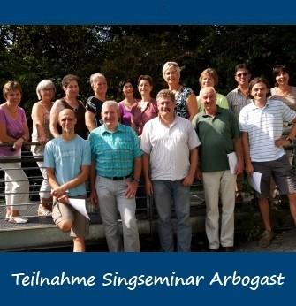 2011-09-09 bis 2011-09-11 Teilnahme Singseminar St. Arbogast