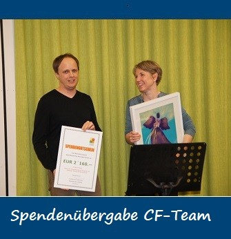 2015-01-08 Spendenübergabe an Mark Nussbaumer (CF-Team)