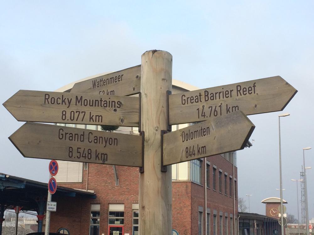Vom Emdener Hafen aus geht es überall hin