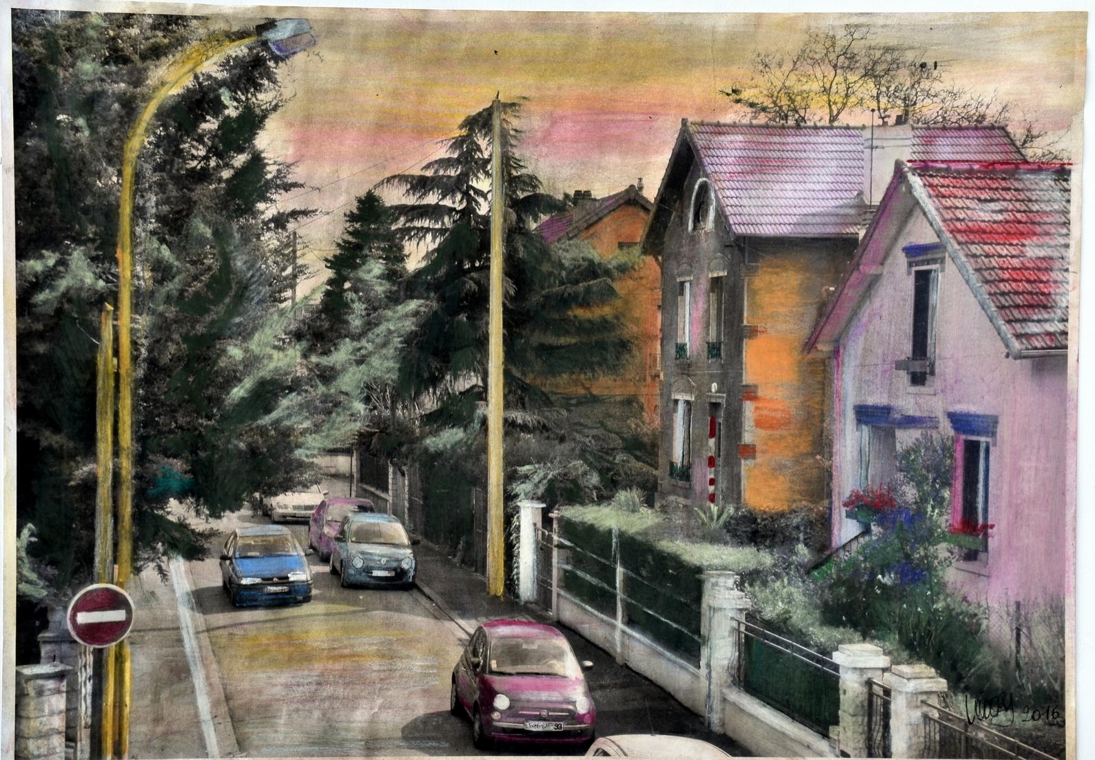 La maison rose - Techniques mixtes - Maud WERY