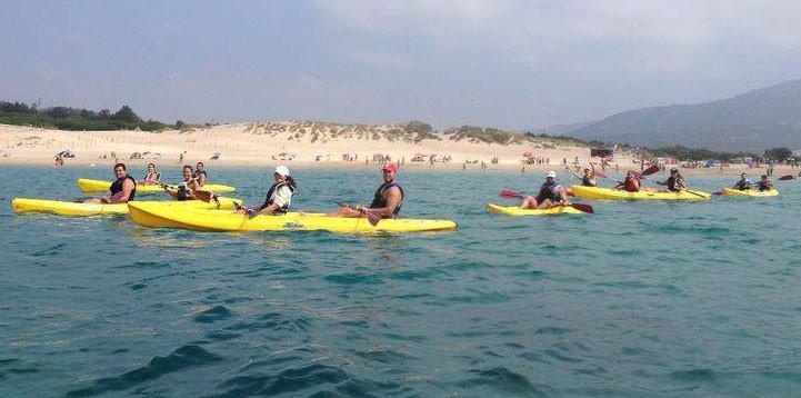ruta en kayak playa de Tarifa