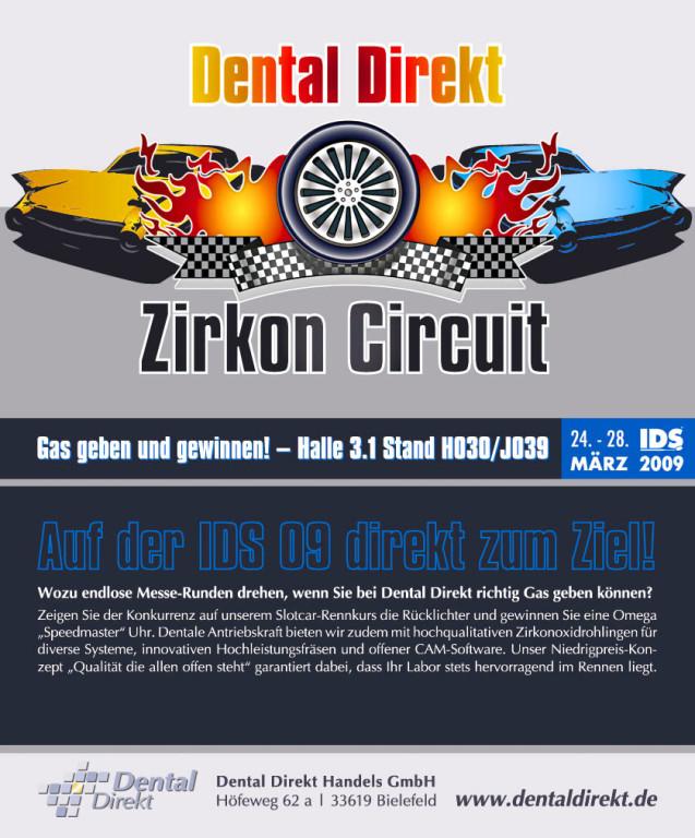 "Werbeanzeige – Dental Direkt ""Zirkon Curcuit"" (IDS)"