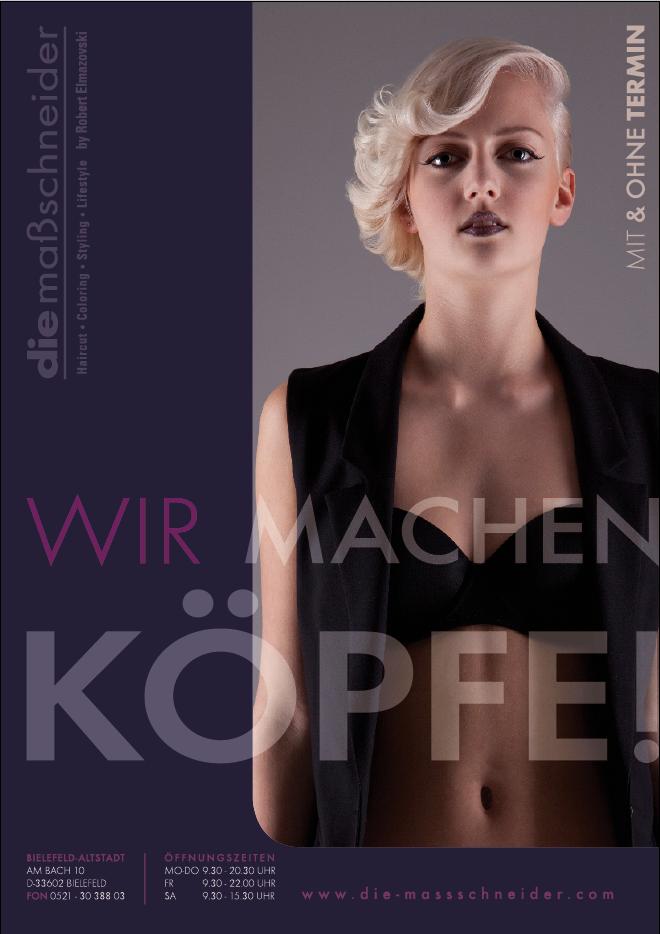 Werbeplakate – die maßschneider, Bielefeld