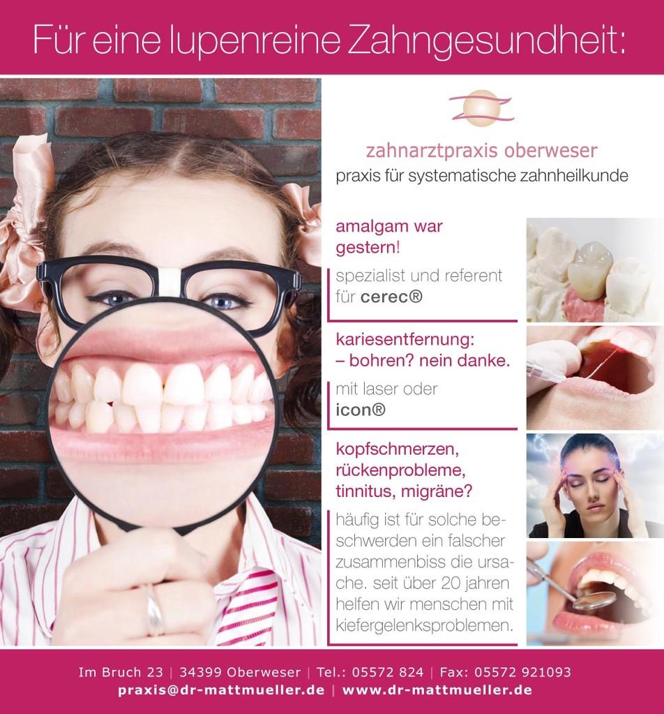 Veranstaltungsanzeige – Zahnarztpraxis Oberweser